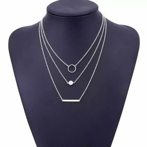 Silver layered Necklace Gorgeous!